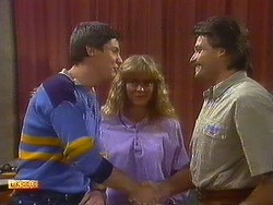 Joe Mangel, Jane Harris, Mark Granger in Neighbours Episode 0879