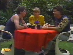 Joe Langer, Jane Harris, Mark Granger in Neighbours Episode 0879