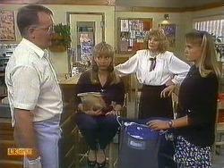 Harold Bishop, Jane Harris, Madge Bishop, Bronwyn Davies in Neighbours Episode 0882