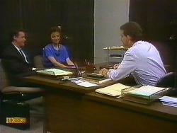 Paul Robinson, Gail Robinson, Des Clarke in Neighbours Episode 0883