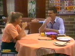 Bronwyn Davies, Des Clarke in Neighbours Episode 0883