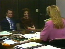 Paul Robinson, Gail Robinson, Penelope Porter in Neighbours Episode 0884