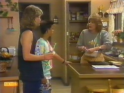 Nick Page, Todd Landers, Madge Bishop in Neighbours Episode 0886