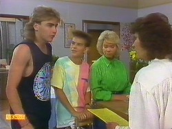 Nick Page, Todd Landers, Helen Daniels, Beverly Robinson in Neighbours Episode 0886