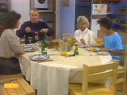 Beverly Marshall, Jim Robinson, Helen Daniels, Todd Landers in Neighbours Episode 0889