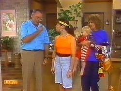 Harold Bishop, Kerry Bishop, Sky Mangel, Madge Bishop in Neighbours Episode 0890