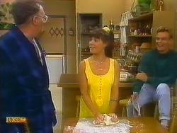 Harold Bishop, Kerry Bishop, Scott Robinson in Neighbours Episode 0892