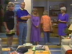 Nick Page, Jim Robinson, Jane Harris, Helen Daniels, Rosemary Daniels in Neighbours Episode 0893