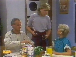 Jim Robinson, Nick Page, Helen Daniels in Neighbours Episode 0893
