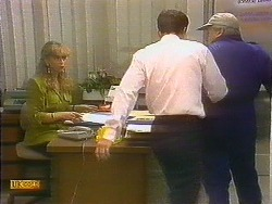 Jane Harris, Paul Robinson, Rob Lewis in Neighbours Episode 0893