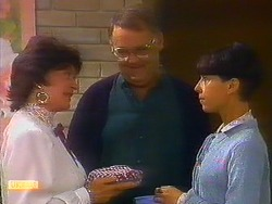 Gloria Lewis, Harold Bishop, Hilary Robinson in Neighbours Episode 0897