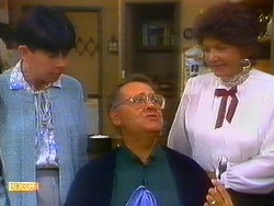 Hilary Robinson, Harold Bishop, Gloria Lewis in Neighbours Episode 0897