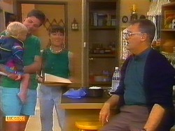 Sky Mangel, Joe Mangel, Kerry Bishop, Harold Bishop in Neighbours Episode 0897