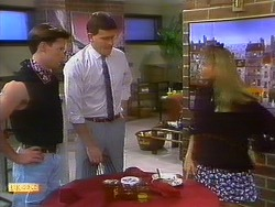 Mike Young, Des Clarke, Bronwyn Davies in Neighbours Episode 0898