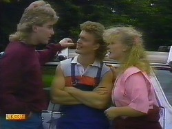 Nick Page, Henry Ramsay, Sharon Davies in Neighbours Episode 0898