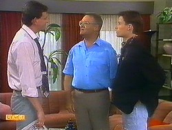 Des Clarke, Harold Bishop, Mike Young in Neighbours Episode 0899