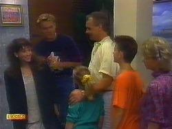 Madeline Price, Scott Robinson, Katie Landers, Jim Robinson, Todd Landers, Helen Daniels in Neighbours Episode 0899