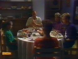 Katie Landers, Jim Robinson, Todd Landers, Helen Daniels, Scott Robinson in Neighbours Episode 0899