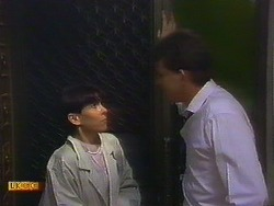 Hilary Robinson, Des Clarke in Neighbours Episode 0900