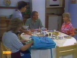 Nick Page, Todd Landers, Jim Robinson, Helen Daniels in Neighbours Episode 0900