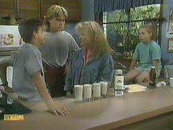 Todd Landers, Nick Page, Sharon Davies, Katie Landers in Neighbours Episode 0901