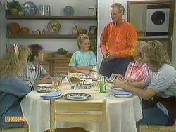 Sharon Davies, Todd Landers, Katie Landers, Jim Robinson, Helen Daniels, Nick Page in Neighbours Episode 0901