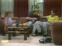 Bronwyn Davies, Scott Robinson, Mike Young in Neighbours Episode 0903
