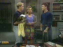 Scott Robinson, Bronwyn Davies, Paul Robinson in Neighbours Episode 0903