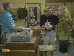 Harold Bishop, Scott Robinson, Jane Harris in Neighbours Episode 0904