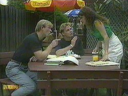 Eric Conrad, Scott Robinson, Madeline Price in Neighbours Episode 0904