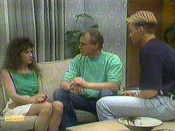 Madeline Price, Jim Robinson, Scott Robinson in Neighbours Episode 0904
