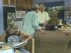 Nick Page, Scott Robinson, Jim Robinson, Helen Daniels in Neighbours Episode 0906