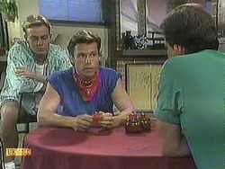 Scott Robinson, Mike Young, Des Clarke in Neighbours Episode 0906