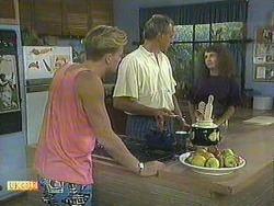 Scott Robinson, Jim Robinson, Madeline Price in Neighbours Episode 0907