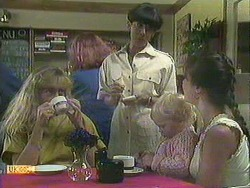 Jane Harris, Hilary Robinson, Sky Bishop, Kerry Bishop in Neighbours Episode 0907