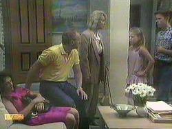 Madeline Price, Jim Robinson, Helen Daniels, Katie Landers, Todd Landers in Neighbours Episode 0908