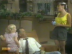 Sky Bishop, Harold Bishop, Kerry Bishop in Neighbours Episode 0908