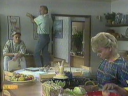 Scott Robinson, Jim Robinson, Helen Daniels in Neighbours Episode 0908