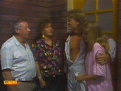 Rob Lewis, Gloria Lewis, Henry Ramsay, Bronwyn Davies in Neighbours Episode 0909