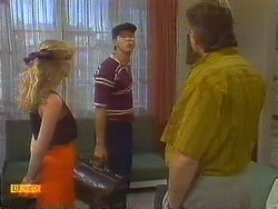Jane Harris, Joe Mangel, Glen Matheson in Neighbours Episode 0909