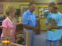 Sharon Davies, Harold Bishop, Nick Page in Neighbours Episode 0910