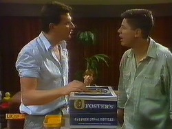 Des Clarke, Joe Mangel in Neighbours Episode 0912
