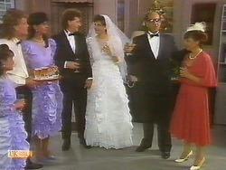 Henry Ramsay, Poppy Skouros, Theo Skouros, Mrs. Skouros in Neighbours Episode 0914