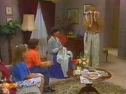 Katie Landers, Todd Landers, Hilary Robinson, Jim Robinson in Neighbours Episode 0915