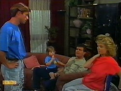 Mike Young, Jamie Clarke, Des Clarke, Jenny Owens in Neighbours Episode 0917
