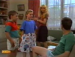 Toby Mangel, Katie Landers, Jane Harris, Joe Mangel in Neighbours Episode 0917