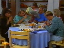 Madeline Price, Nick Page, Todd Landers, Jim Robinson, Scott Robinson, Helen Daniels in Neighbours Episode 0919