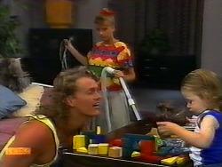 Henry Ramsay, Bronwyn Davies, Jamie Clarke in Neighbours Episode 0920