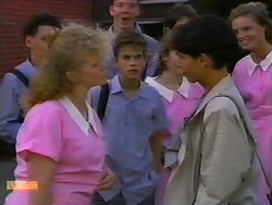 Sharon Davies, Todd Landers, Hilary Robinson in Neighbours Episode 0920