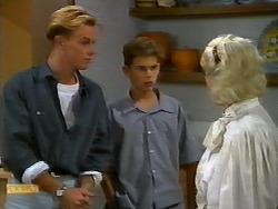 Scott Robinson, Todd Landers, Helen Daniels in Neighbours Episode 0921